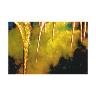 Lona envuelta arte del humo y de los carámbanos impresión de lienzo
