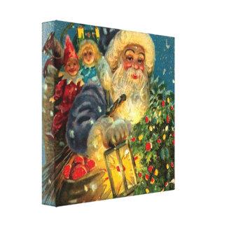 Lona envuelta arte del navidad de Papá Noel que