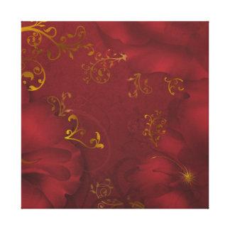 Lona envuelta arte floral de la fantasía de impresiones en lienzo estiradas