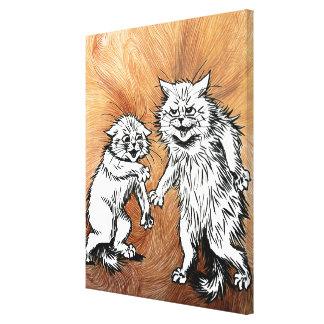 Lona envuelta arte mágico del gato de Louis Wain d Impresion De Lienzo