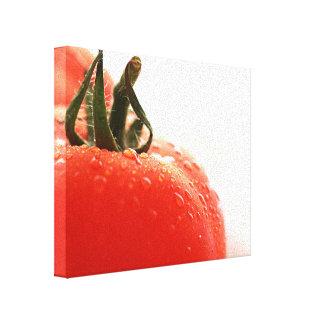 Lona envuelta ascendente cercana del tomate impresion de lienzo