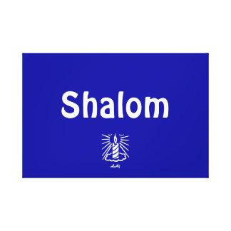 Lona envuelta azul de Shalom Lienzo Envuelto Para Galerias