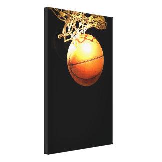Lona envuelta baloncesto impresiones en lona estiradas