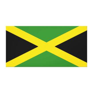 Lona envuelta bandera jamaicana impresiones de lienzo