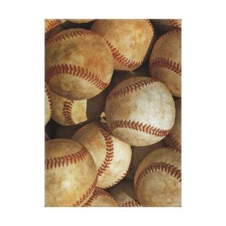 Lona envuelta béisbol impresión en lienzo
