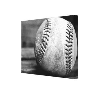 Lona envuelta béisbol impresiones de lienzo