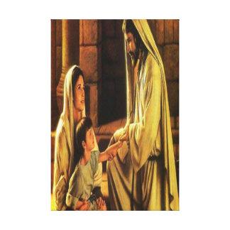 Lona envuelta bendición de Jesús Impresion En Lona