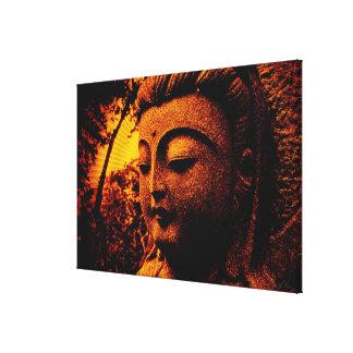 Lona envuelta brillo de la paz de Buda Lienzo Envuelto Para Galerías