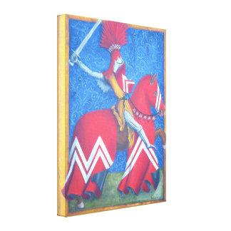 Lona envuelta caballero rojo impresiones de lienzo