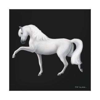Lona envuelta caballo andaluz español del paso impresión en tela