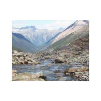 Lona envuelta cala glacial de la montaña impresiones en lona
