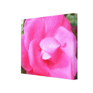Lona - envuelta - camelia rosada oscura 2 impresión en lienzo
