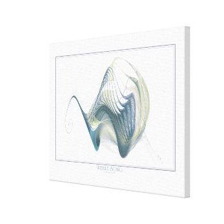 Lona envuelta canción de la ballena impresión en lienzo estirada