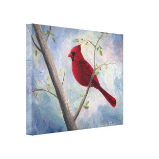 Lona envuelta cardenal impresion de lienzo