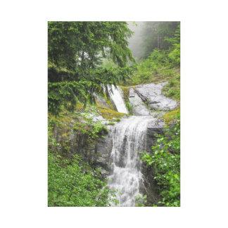 Lona envuelta cascada majestuosa impresion en lona