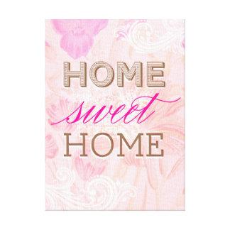 Lona envuelta casera dulce del hogar de la flora d impresiones en lienzo estiradas