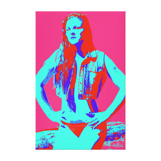 lona envuelta chica confiado del bikini del lona envuelta para galerias