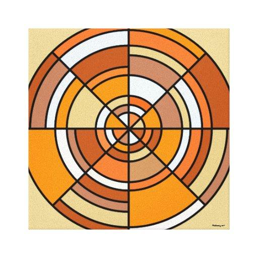 Lona envuelta círculo de la ilusión óptica impresión de lienzo