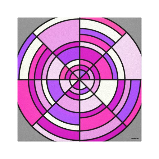Lona envuelta círculo de la ilusión óptica impresiones en lona estiradas