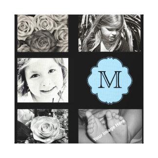 Lona envuelta collage de la foto del monograma lona envuelta para galerias
