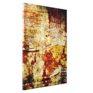 Lona envuelta collage de las listas de compras lona estirada galerias