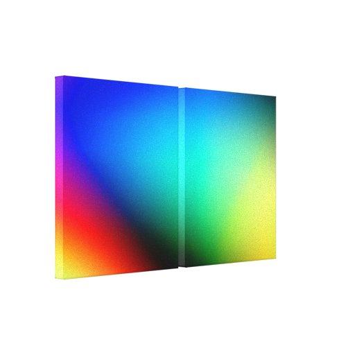 Lona envuelta colorida del arte abstracto lienzo envuelto para galerías