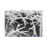 Lona envuelta corriente hivernal impresiones de lienzo