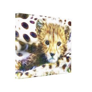 Lona envuelta Cub salvaje del guepardo del animal Impresión En Lona