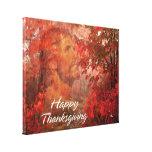 Lona envuelta de la acción de gracias 9 felices lienzo envuelto para galerias