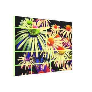 Lona envuelta de la decoración 66 de la flor impresión en lona estirada