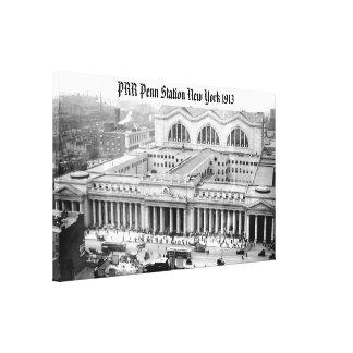 Lona envuelta de la estación 1913 de PRR Nueva Impresión De Lienzo