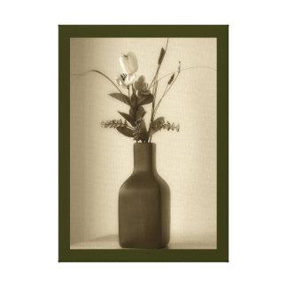 Lona envuelta de la flor artificial impresión en lona estirada