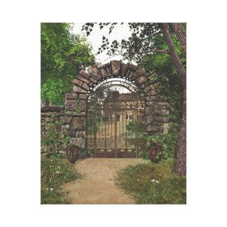 Lona envuelta de la puerta de jardín lona estirada galerías