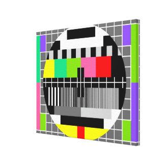 """Lona envuelta de la """"televisión retra"""" impresión en lienzo"""