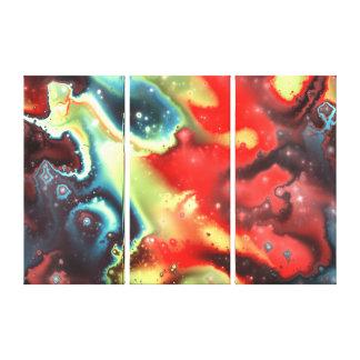 Lona envuelta de las nebulosas 7 del fractal lienzo envuelto para galerías