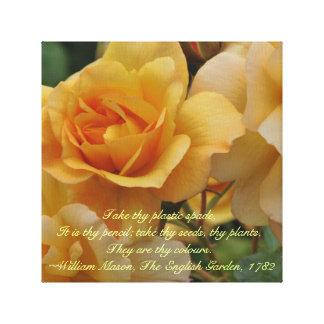 Lona envuelta de oro del día de madre de los rosas impresiones en lienzo estiradas