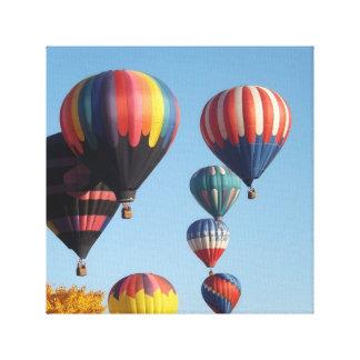 Lona envuelta de surgimiento de los globos impresión en lienzo