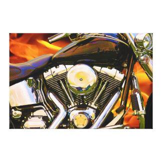 Lona envuelta del arte 1 de la motocicleta impresión en lienzo estirada