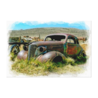 Lona envuelta del arte 6 viejos del coche lona estirada galerías