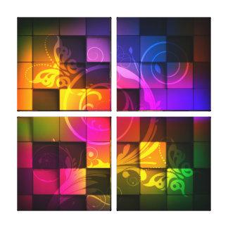 Lona envuelta del arte abstracto 20