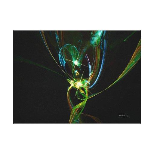 Lona envuelta del arte moderno de la luz interna lona estirada galerías