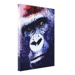 Lona envuelta del arte pop de la cara del gorila impresión en lona
