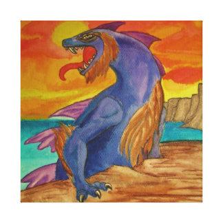 """Lona envuelta """"del dragón espinoso del mar"""" impresion en lona"""