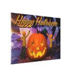 Lona envuelta del feliz Halloween 4 Lona Envuelta Para Galerías