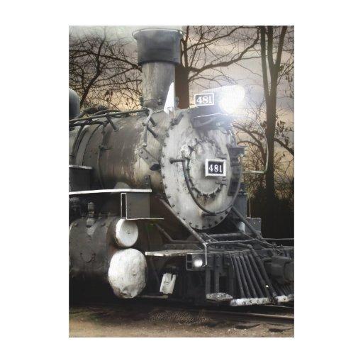 Lona envuelta del motor de vapor 481 impresión en lienzo estirada