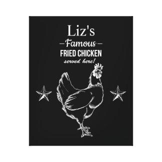 "Lona envuelta del ""pollo frito famoso"" impresion en lona"