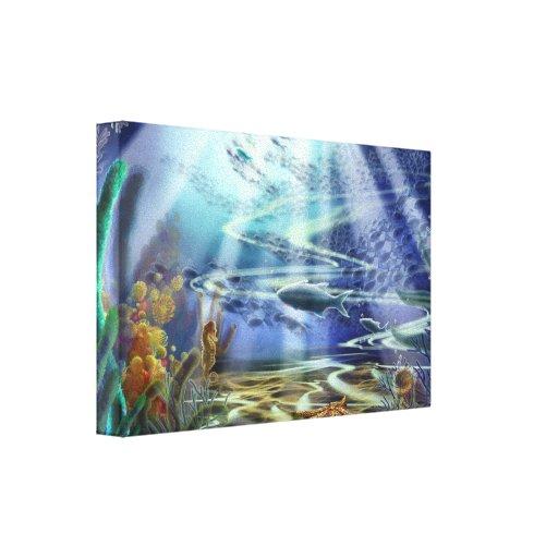 Lona envuelta del suelo marino de la fantasía lienzo envuelto para galerías