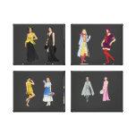 Lona envuelta desfile de moda lona estirada galerías