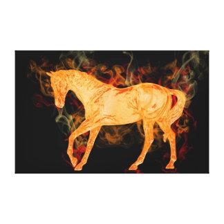 Lona envuelta diseño abstracto ardiente del caball impresión en tela