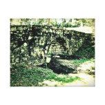 Lona envuelta el | de piedra del puente impresiones en lona estiradas